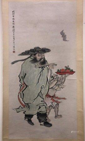 A Chinese Painting of ZhongKui by Ren Xun
