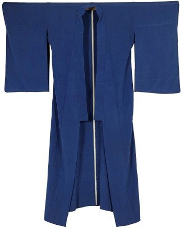 A Japanese Blue Long Robe