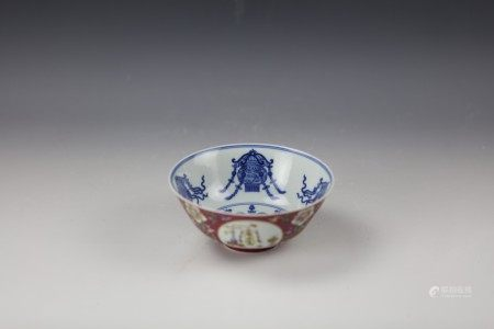 A Chinese Famille Rose Floral Bowl with Daoguang Mark