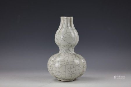 A Chinese Triple Opening Ge Type Vase with Qianlong Mark