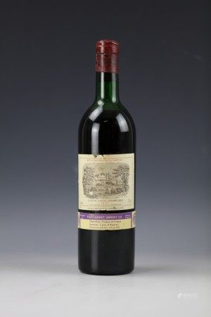 A Bottle of Chateau Lafite Rothschild 1973.