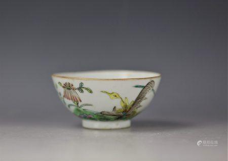 A Chinese Famille Rose Flower Porcelain Bowl