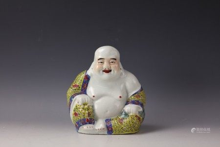 A Chinese Famille Rose Figure of Maitreya