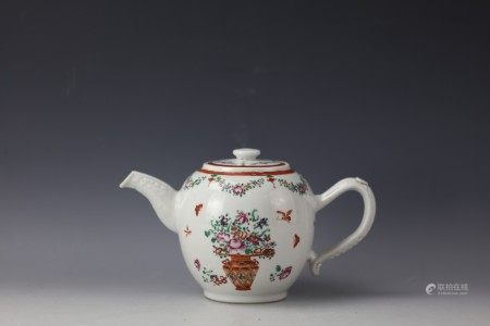 A Chinese Famille Rose Objects and Floral Teapot