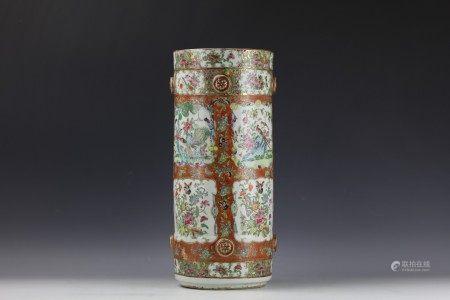 A Chinese Famille Rose Medallion Vase