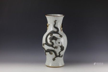 A Chinese Ge Type Baluster DRAGON Vase with Chenghua Mark