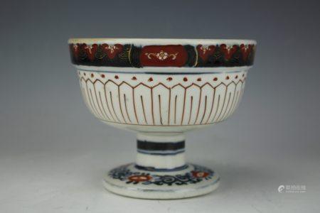 A Japanese Imari High Stem Cup