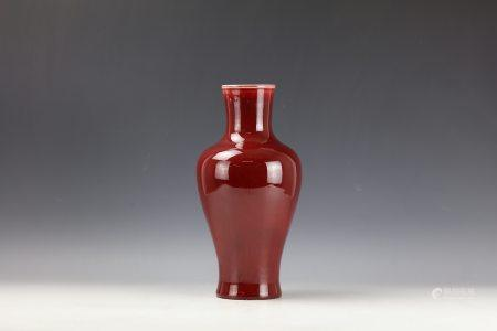A Chinese Copper Red Guanyin Vase