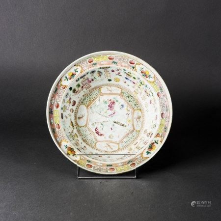 A FAMILLE ROSE 'FLORAL' DISH