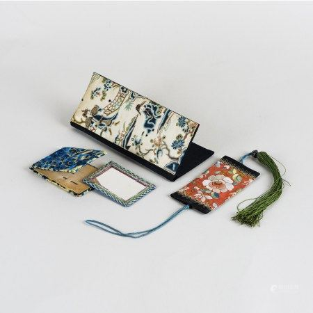 LOT OF 3, A GROUP OF CHINESE EMBROIDERED POUCHES