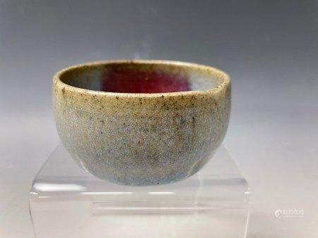 An Impressive Jun Purple Splashed Tea Bowl