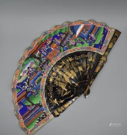 19th Century Canton Fan