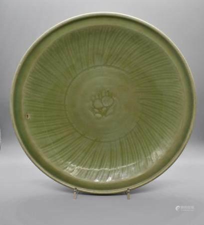 Early Ming Longquan Celadon Dish