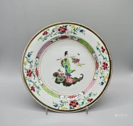 Famille Rose dish of Lady Ma, lan tsai-ho