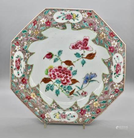 Famille Rose Large octagonal Dish
