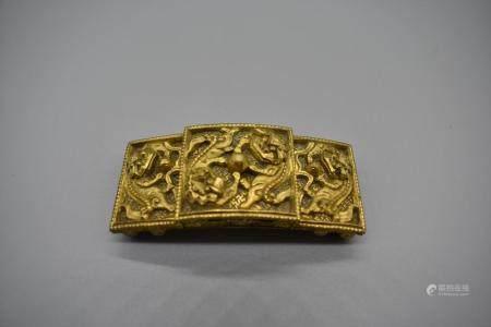 Gilt Bronze Belt clasp with shishi design
