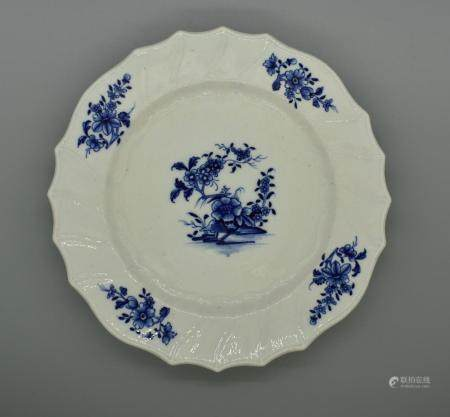 French Ten Tournai Porcelain Dessert Plates