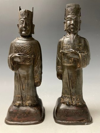 Two Chinese Bronze Figures of Immortals