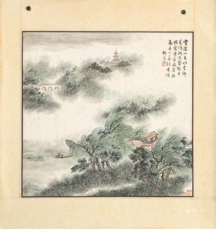 LIU XI CHINESE LANDSCAPE PAINTING