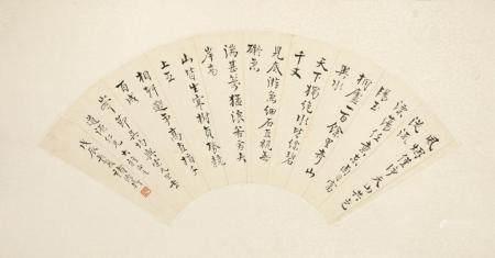 ZHU DEYI (1871-1942), CALLIGRAPHY FAN