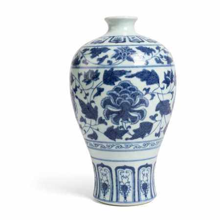 BLUE AND WHITE MEIPING VASE TONGZHI MARK BUT LATER