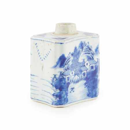 BLUE AND WHITE 'LANDSCAPE' VESSEL QING DYNASTY, 18TH-19TH CENTURY