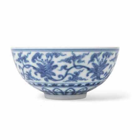 BLUE AND WHITE 'FLORAL' BOWL YONGZHENG MARK