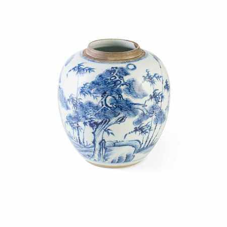 BLUE AND WHITE JAR QING DYNASTY, 18TH CENTURY