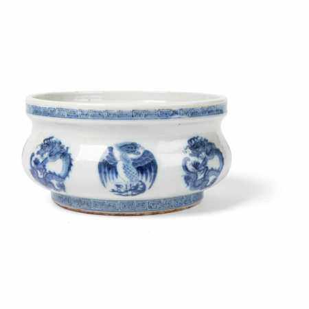 BLUE AND WHITE CENSER 19TH-20TH CENTURY