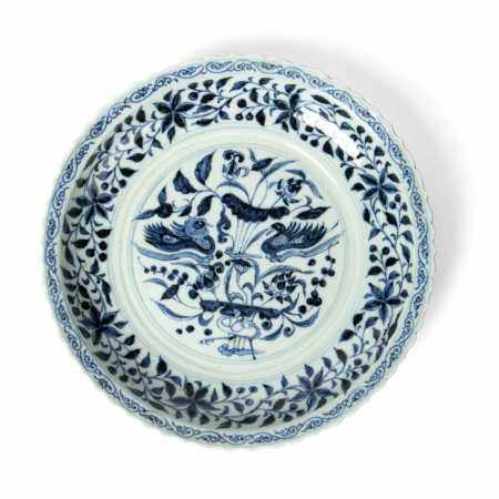 BLUE AND WHITE PLATE 20TH CENTURY