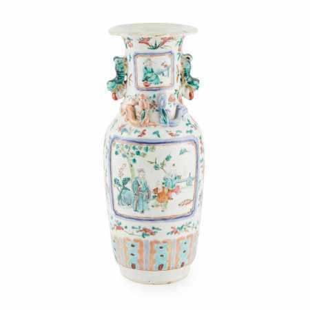 FAMILLE ROSE VASE QING DYNASTY, 19TH CENTURY