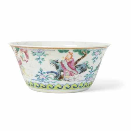 FAMILLE ROSE BOWL DAOGUANG MARK AND OF THE PERIOD