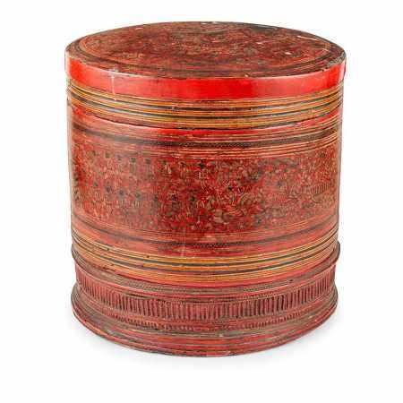 BURMESE LACQUER BETEL BOX 19TH-20TH CENTURY