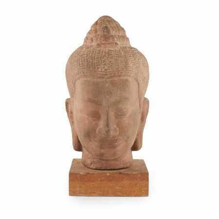 KHMER STYLE SANDSTONE HEAD OF BUDDHA