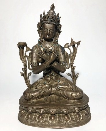 A BRONZE FIGUE OF VAJRADHARA