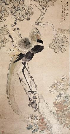 清代 王礼 花鸟