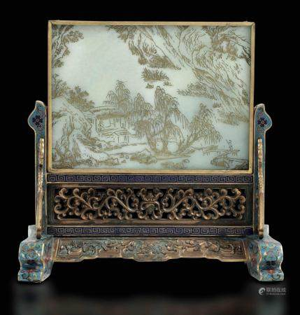 A jade plaque, China, Qing Dynasty
