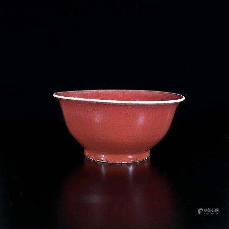 清 窯変釉 碗