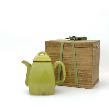 清 宜興黄釉 漢方壺