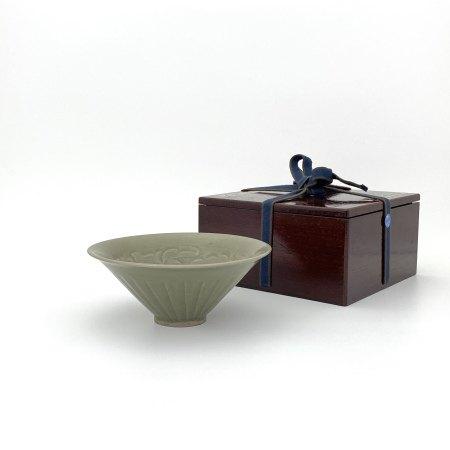 耀州窯 刻花紋 碗