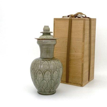 北宋 龍泉窯 蓋瓶