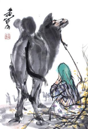 黄胄 人与骆驼