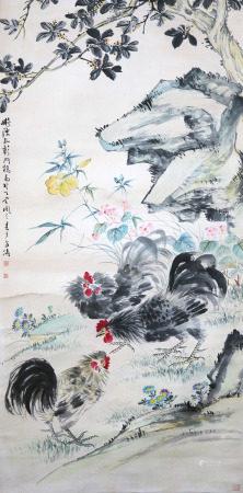 王雪涛 群鸡图