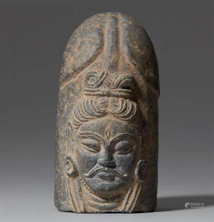 A North Indian grey shist ekamukhalinga. Possibly 4th/5th century
