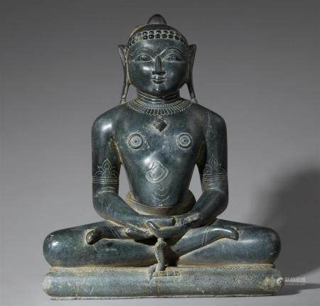 An Indian polished schist figure of Tirthankara Parshvanatha. Gujarat. 16th century