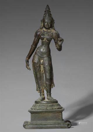 A South Indian bronze figure of Shri Devi. 15th/16th century