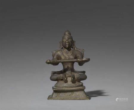 A Karnataka copper alloy figure of Annapurna. South India. 19th century
