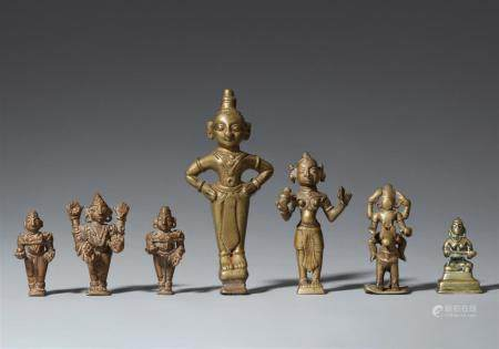 Seven mostly Maharashtra copper alloy figures. Central India. 19th century