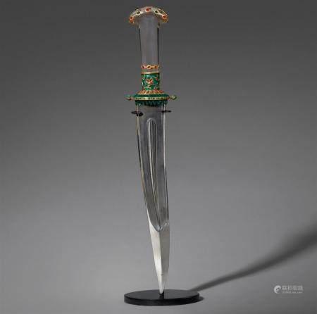 A Deccani ceremonial dagger (kanjar). Central India, Deccan, Hyderabad