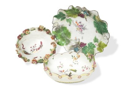 A Chelsea shaped dish, circa 1755,